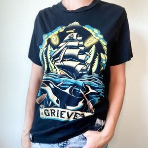 Rhyme slayers, grieves nautical graphic tee